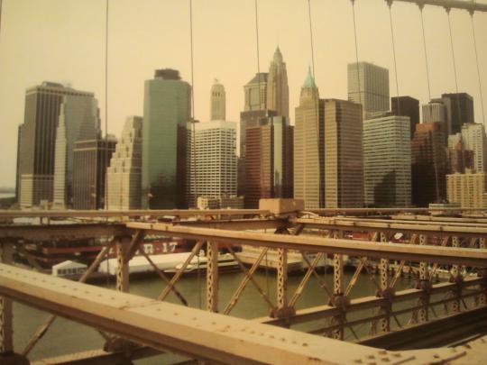 Una veduta di Manhattan nella immagine del giornalista Sergio Scialabba