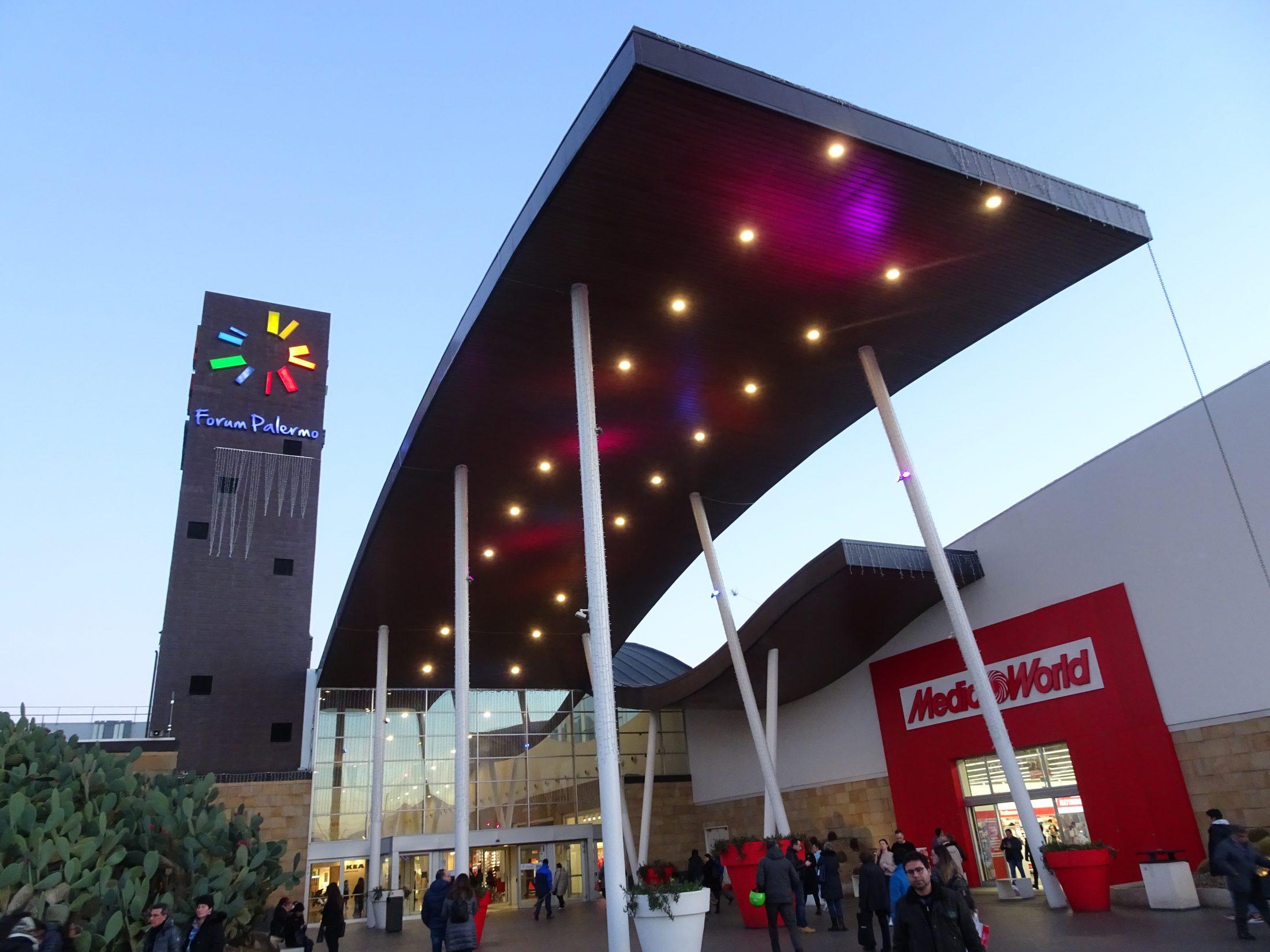 Nel 2019 ben nove milioni di persone hanno visitato il Forum Palermo, il più grande centro commerciale della Sicilia occidentale