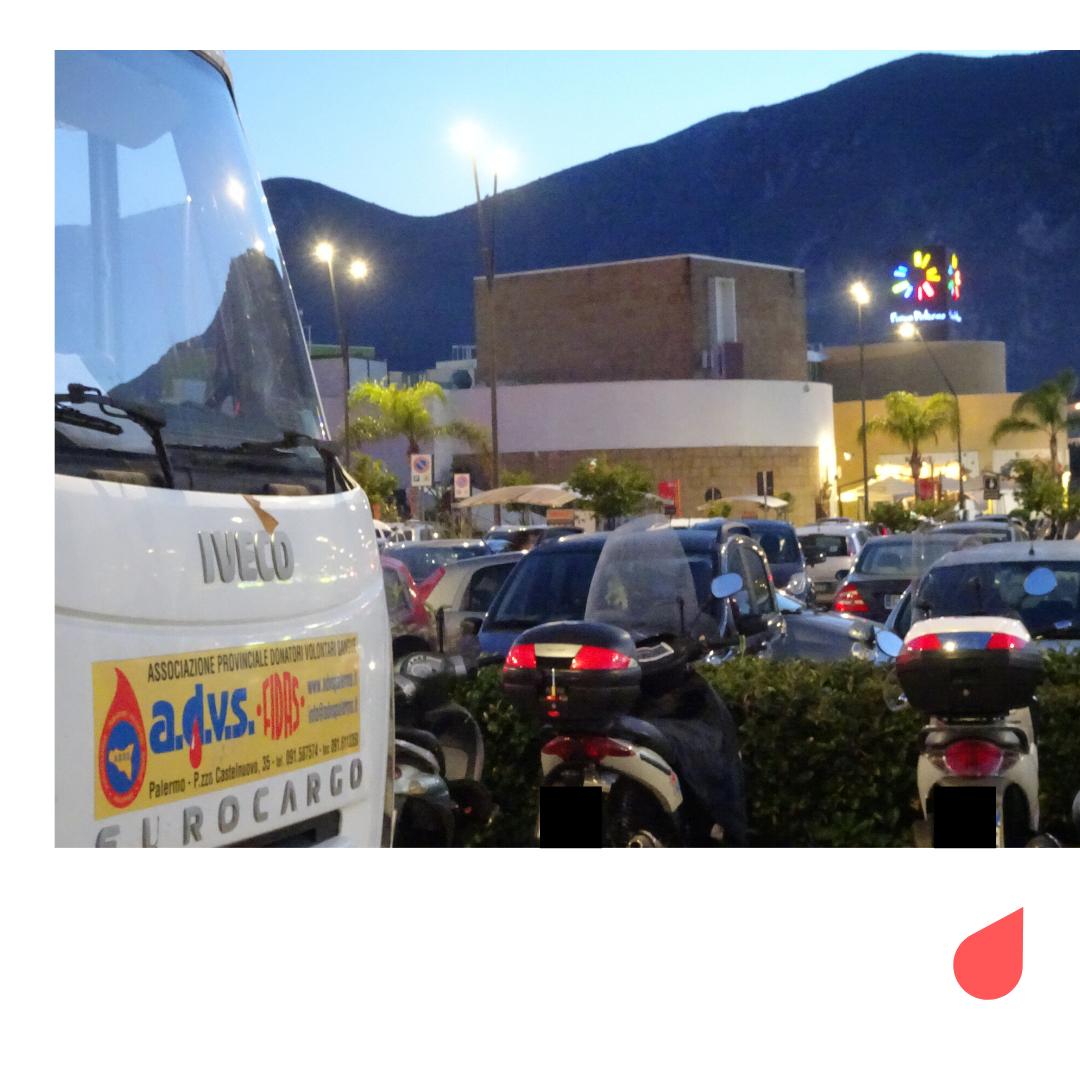 Si può donare il sangue anche al Forum Palermo, il più grande centro commerciale della Sicilia occidentale