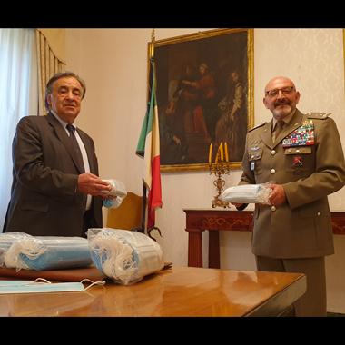 Leoluca Orlando ha incontrato il generale Maurizio Angelo Scardino